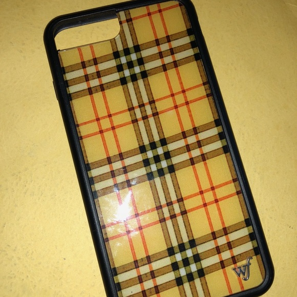 uk availability f6fe3 11d87 WILDFLOWER YELLOW PLAID IPHONE 7+ CASE